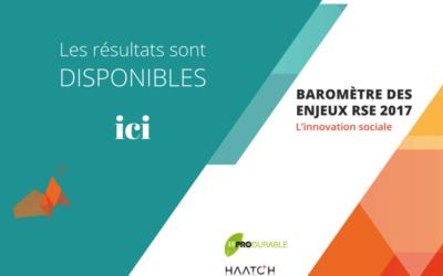 Baromètre des enjeux RSE 2017 : l'innovation sociale