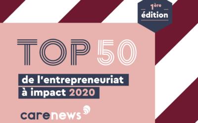 HAATCH s'associe à Carenews, l'ESSEC et BNP Paribas pour le Top 50 de l'entrepreneuriat à impact 2020